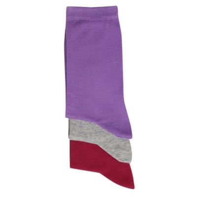 Me-We Γυναικεία Βαμβακερή Κάλτσα Μονόχρωμη σε Χρώματα Μόδας (3 ζευγάρια)