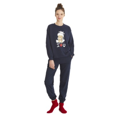 Crazy Farm Homewear Γυναικεία Πυτζάμα Crazy Fleece
