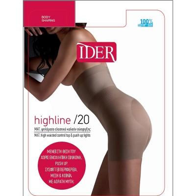 Ider HIGH LINE 20 Den - Ψηλόμεσο ελαστικό καλσόν σύσφιξης