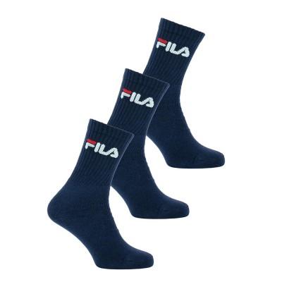 FILA UNI NOS Socks - Unisex Aθλητική Κάλτσα - Σετ με 3 Ζεύγη