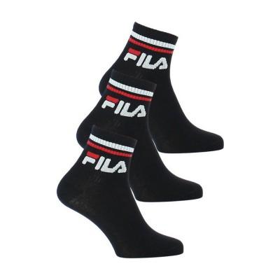 FILA UNIQUE URBAN Quarter Socks - Unisex Aθλητική Κάλτσα Ημίκοντη - Σετ με 3 Ζεύγη