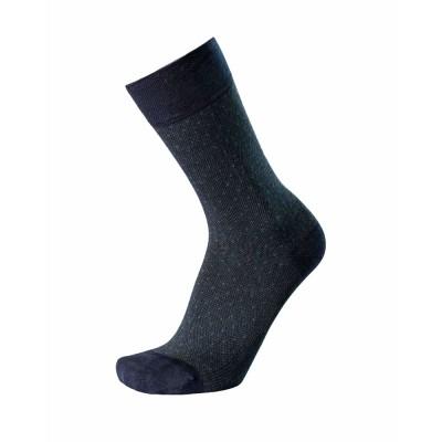 Ulisse Socks - Κάλτσα με Κλασσικό Σχέδιο από Μερσεριζέ Βαμβάκι και Bamboo