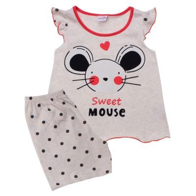 Minerva Πυζάμα για Κορίτσι Βρεφική - Sweet Mouse (1-4 ετών)