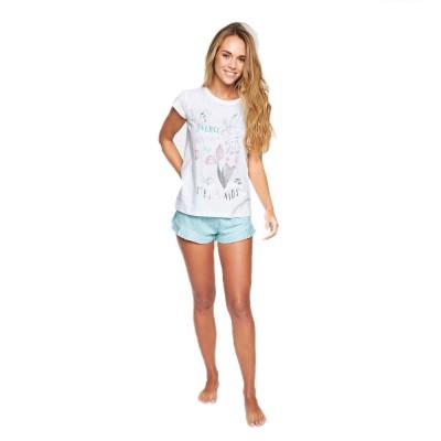 MUYDEMI - Γυναικεία Πυζάμα Σετ σορτς και T-shirt - Sirena