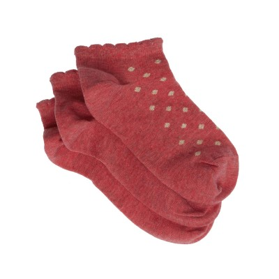 Me We Socks Παιδικό Βαμβακερό Sneaker Πουά με Lurex (3 Ζεύγη)