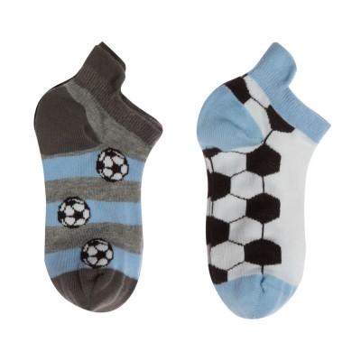 Me We Socks Παιδικό Βαμβακερό Sneaker Football (2 Ζεύγη)