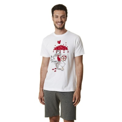 Happy People Μπλούζα Αντρική Κοντό Μανίκι Fanta Tshirt - Perfect Moments