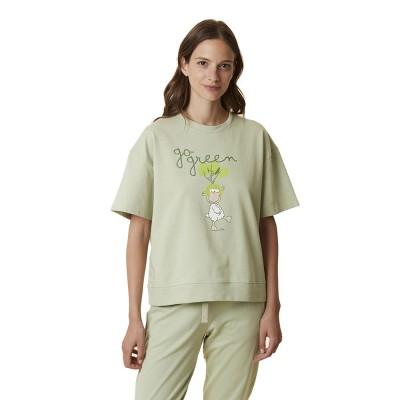Happy People Γυναικεία Μπλούζα Κοντό Μανίκι - Go Green