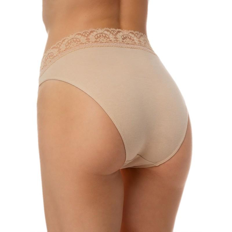 Minerva Γυναικείο Slip Cotton Lycra Lace Brazil 2 Τεμάχια