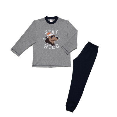 Minerva - Παιδική Χειμερινή Πυτζάμα Για Αγόρι Φούτερ Stay Wild