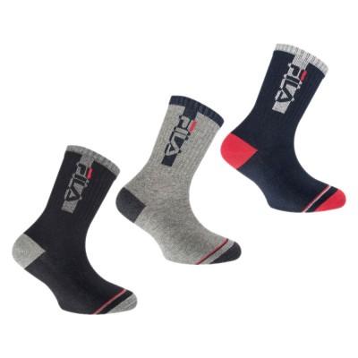 FILA Socks - Παιδική Κάλτσα Warm Cotton - Σετ με 3 Ζεύγη