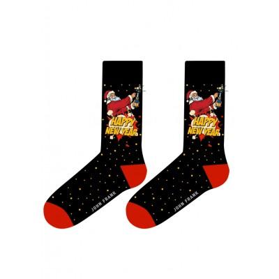John Frank Women Fashion Socks - Christmas Santa