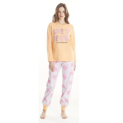 Love Homewear Γυναικεία Πυτζάμα ΜΜ-ΜΠ ΣΦΙΚΤ. LOVE TO BE