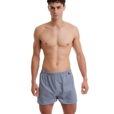WALK Men's Boxer - Βαμβακερό Μικρό Καρό