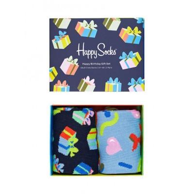 Happy Socks - 2-Pack Happy Birthday Socks Gift Set - Κάλτσες Συσκευασία Δώρου